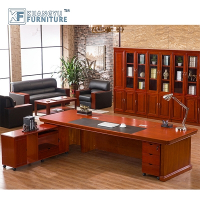 High quality modern luxury solid wood boss desk