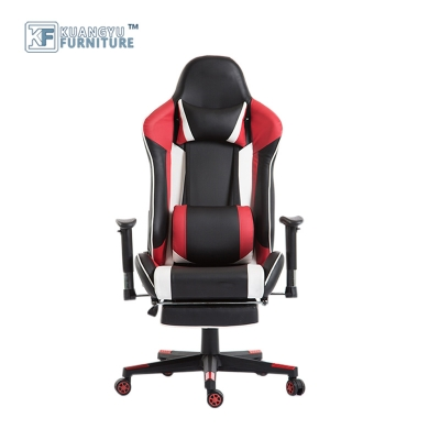 Popular PU Leather Gaming Chair With Footrest